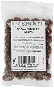 JustIngredients Belgian Chocolate Raisins 150g (Pack of 6)