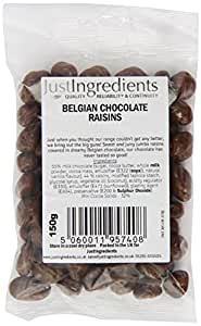 JustIngredients Essential Belgian Chocolate Raisins 150g (Pack of 6)