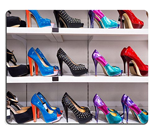 MSD Natural Rubber Gaming Mousepad Background with shoes on shelves of shop Image ID 24145051