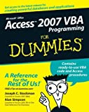 img - for By Joseph C. Stockman Access 2007 VBA Programming For Dummies (1st Edition) book / textbook / text book
