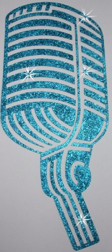 Fabric Glitter Vintage Microphone Iron-On Fabric Transfer