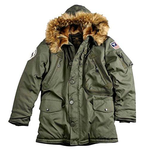 """Alpha Ind. Jacke """"Polar Jacket"""" – dark green S-3XL NEU online kaufen"""