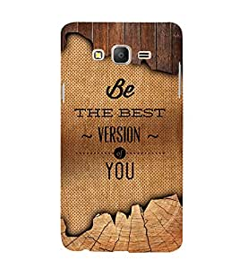 Be The Best Version Of U 3D Hard Polycarbonate Designer Back Case Cover for Samsung Galaxy On7 Pro :: Samsung Galaxy ON 7 Pro