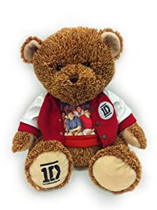 1d One Direction 22 Inch Two Tone Teddy Bear With Varsity Jacket And Group Photo T-shirt by 1-Star Entertainment