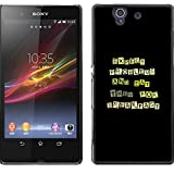 Hard Protective Case Cover for Sony Xperia Z L36H / Funny Except Problems & Eat Them