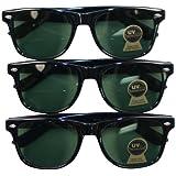 UB Classic 3-pack Retro Fashion Style Sunglass