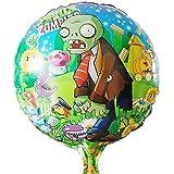 10pcs/lot Plants Vs Zombies Balloon Birthday Party Supplies 45*45cm Halloween Balloons Boy Toys