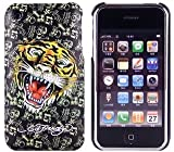 New Black Tiger Design Ed Hardy Hard Case Back Cover For Iphone 3G 3GS
