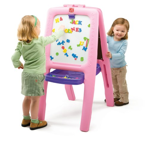 Step2  Pink Easel for Two (Kids Board compare prices)