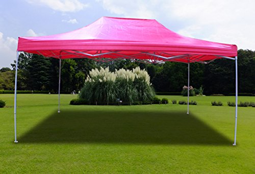 New Pink Deluxe Ez Up Canopy Pop Up Tent 15' X 10' Gazebo Sun Shade front-98457