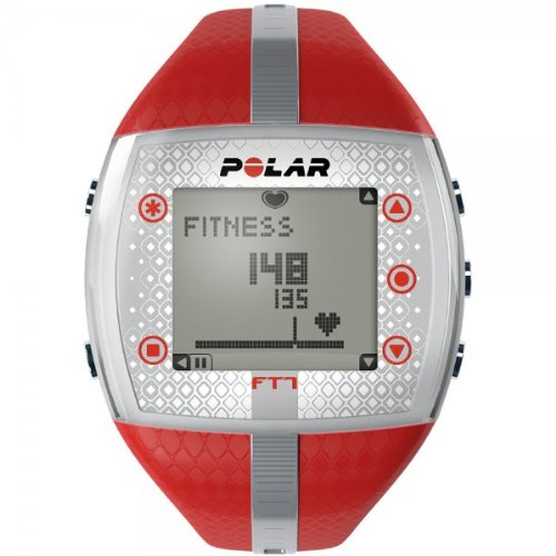 Polar Women'sFT7 Heart Rate Monitor - Red/Silver,