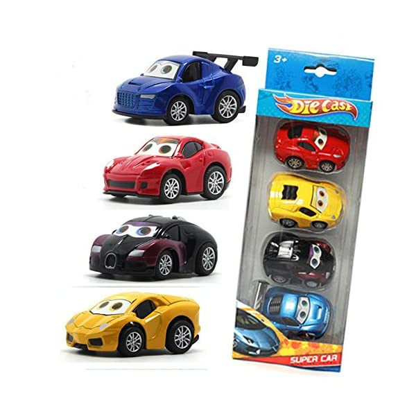 Vidatoy 4-Pack 1:64 Die Cast Pull Back Racer Cars Toy Play Set