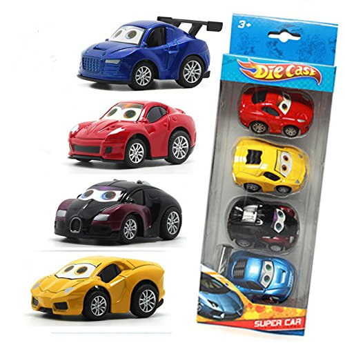 Vidatoy 4-Pack 1:64 Die Cast Pull Back Racer Cars Toy Play Set (Cars 1 Racers compare prices)