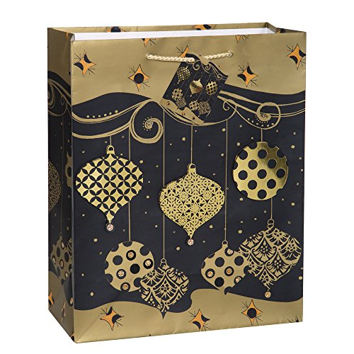 Large Gold Ornaments Holiday Gift Bag