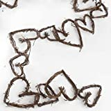 Decorative Natural Grapevine Twig Heart Garland for Home Decor and Embellishing