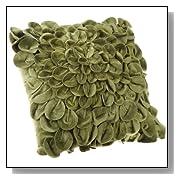 Starburt Petals 16-Inch Green Throw Pillow