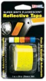 Incom RE181 1-Inch by 24-Inch Super Bright Fluorescent Reflective Tape, Lime