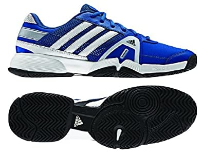Buy Adidas Mens Adipower Barricade Team 3 Tennis Shoe-Blue Beauty Running White Metallic Silver Black by adidas