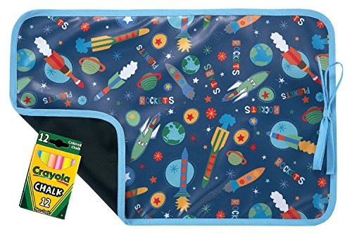 AM PM Kids! Reversible Placemat/Chalkboard, Outer Space - 1