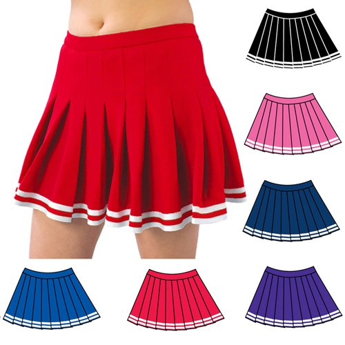 pizzazz pink pleated cheer skirt l