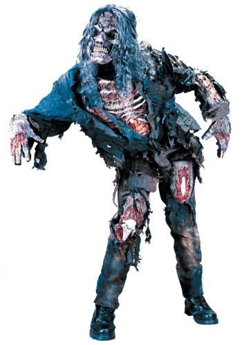 Fun World Costumes Men's Mens Complete 3D Zombie-Adult, Grey, One Size