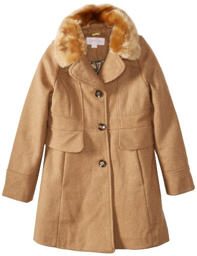51TyvUgKunL Jessica Simpson Girls 7 16 Heavyweight Fashion Jacket, Brown, 7/eight