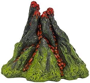 Nemo 5 inch aerating volcano resin aquarium for Aquarium volcano decoration