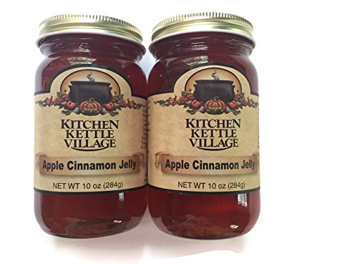 Apple Cinnamon Jelly, Kitchen Kettle Village (Amish Made), 10 Oz. Jars (Pack of 2) (Apple Kettle compare prices)