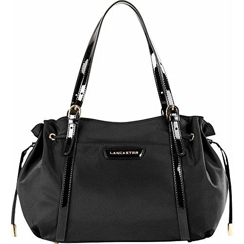 lancaster-paris-nylon-patent-side-cinche-emma-black
