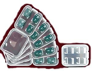 6x Verpackung bzw. Aufbewahrung für Speicherkarten / Mini Case für vier MicroSD MicroSDHC oder MicroSDXC Karten Memory card mini case / jewel case box card / A - Qualität