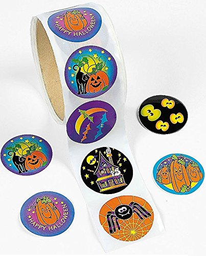 100 Halloween Stickers Roll - Party Decoration