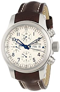 Fortis Men's 635.10.12 L.16 B-42 Pilot Professional Automatic Beige Dial Chronograph Date Leather Watch
