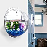 Vktech® Plant Wall Hanging Mount Bubble Aquarium Bowl Fish Tank Aquarium Home Decoration (Mirror)
