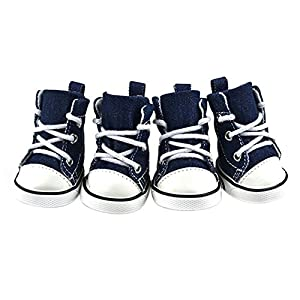 Silvercell Puppy Dog Denim Shoes Sport Casual Anti-slip Boots XL from Silvercell