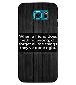 PrintDhaba Quote D-3977 Back Case Cover for SAMSUNG GALAXY S6 EDGE (Multi-Coloured)