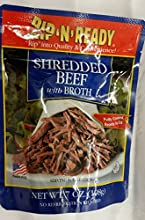 Rip 39N39 Ready Shredded Beef with Broth 7 Oz Pack of 6