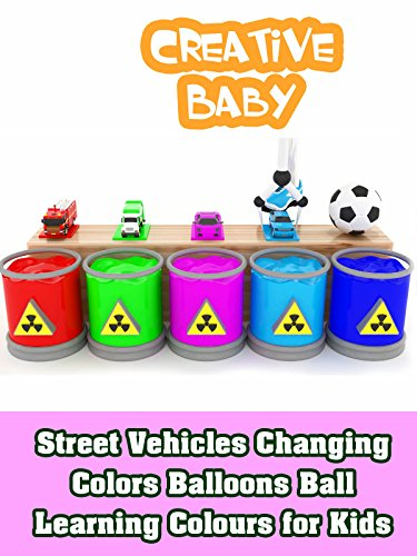 Street Vehicles Changing Colors Balloons Ball