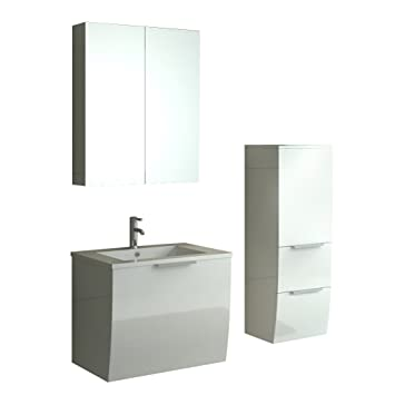 Rorschach Bathroom Gloss White Bathroom Furniture Set