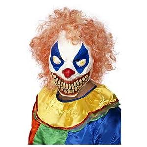 Adults Unisex Evil Clown Mask Halloween Smiffys Fancy Dress Costume - One Size by Smiffys
