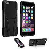 iPhone 5s Case, VAKOO® [Slim Fit] iPhone 5s Case / iPhone 5 Case Armor Kickstand Cover Dual Layer Defender Rugged Hybrid Shield Protection Shockproof Drop proof Impact Case Cover for iPhone 5s Case BLACK