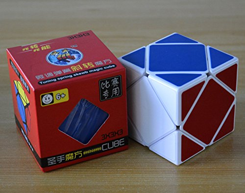 GoodPlay New Shengshou Skewb Puzzle Cube White Angle Puzzle Cube - 1