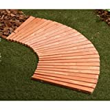 4-Ft. Cedar/Fir-Slat Corner Walkway - Weather-Resistant, Eco-Friendly, Aesthetically-Pleasing