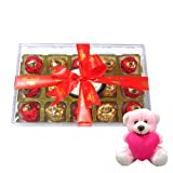Valentine Chocholik Premium Gifts - Marvelous Collection Of Wrapped Chocolates With Teddy