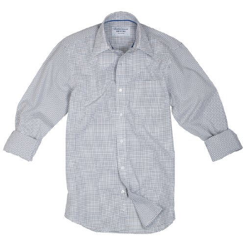 Charles Wilson Hailstone Black Micro Check Men'S Casual Shirt : Xx-Large