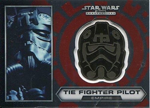 Star Wars Chrome Perspectives Gold Helmet Medallion Card 21 TIE Fighter Pilot