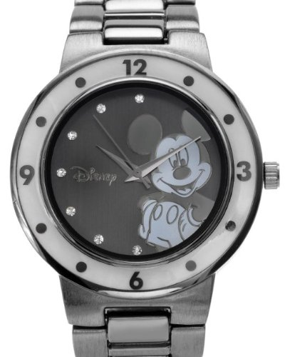 Disney Mother Of Pearl Crystal Unisex Watch.