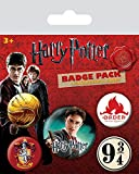 Harry Potter - 5 Piece Button / Pin / Badge Set (Harry, Gryffindor House Crest, Order Of The Phoenix...)