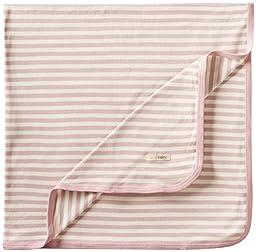 L\'ovedbaby Unisex-Baby Newborn Organic Swaddling Blanket, Mauve/Beige, one size