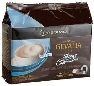 Tassimo Gevalia Fat Free Skinny Cappuccino (includes 8 Fat-Free Milk Creamer T DISCS and 8 Gevalia Espresso T DISCS)