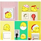AY1046 Fancy Eggs Switch Board/Laptops/Cup/Furniture Wall Sticker Pack Of 12 Pcs